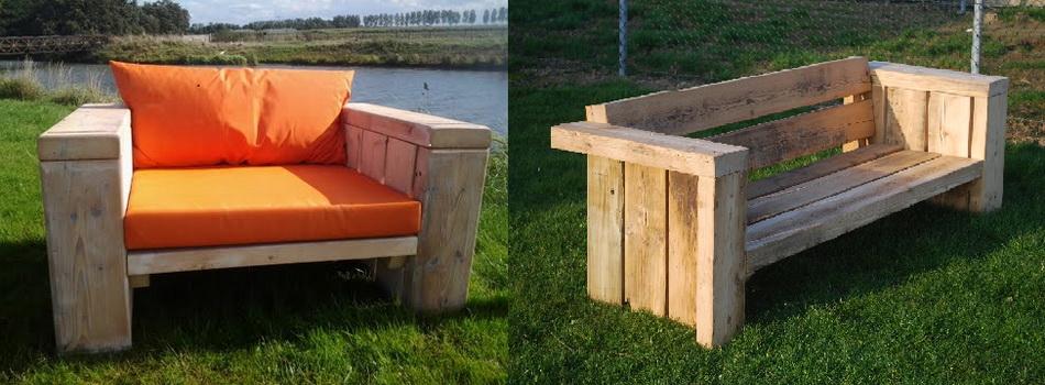 Meubels van houten balken kwebbeltafels - Houten meubels ...