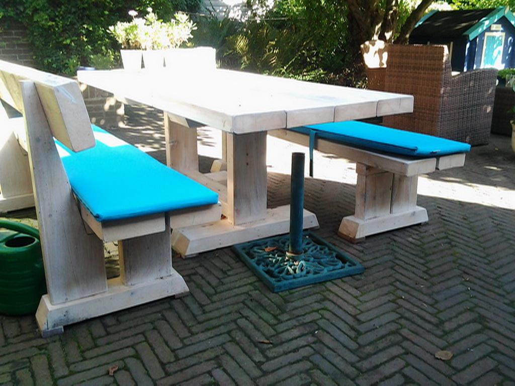 Met losse banken farm tuinset cm tafel bank stoelen zits bank